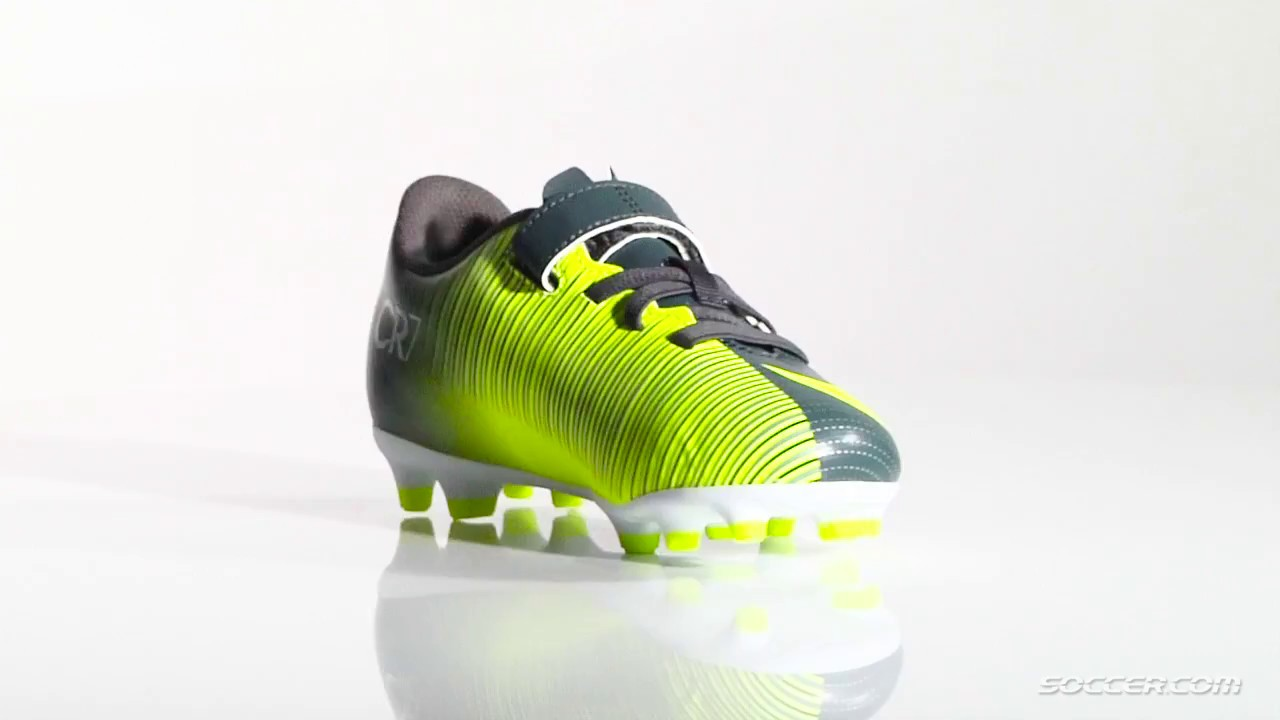 18b6c6d05568 Nike Mercurial VRTX 3 V CR7 FG JR - YouTube