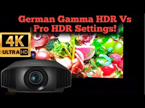 Sony VPL-VW295ES / 285ES /385ES German Gamma HDR Vs Calibrated HDR Settings