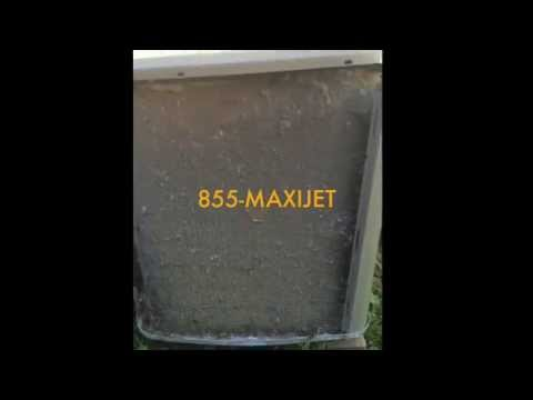 MaxiJet200 AC Coil Cleaning System on Dirty (Blanketed) Coil