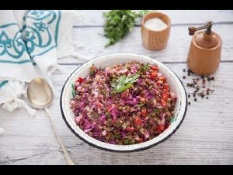 الوصفات الصحية للرجيم -  سلطة الحبوب الصحية + سلطة العدس - مطبخ اسيا ج2