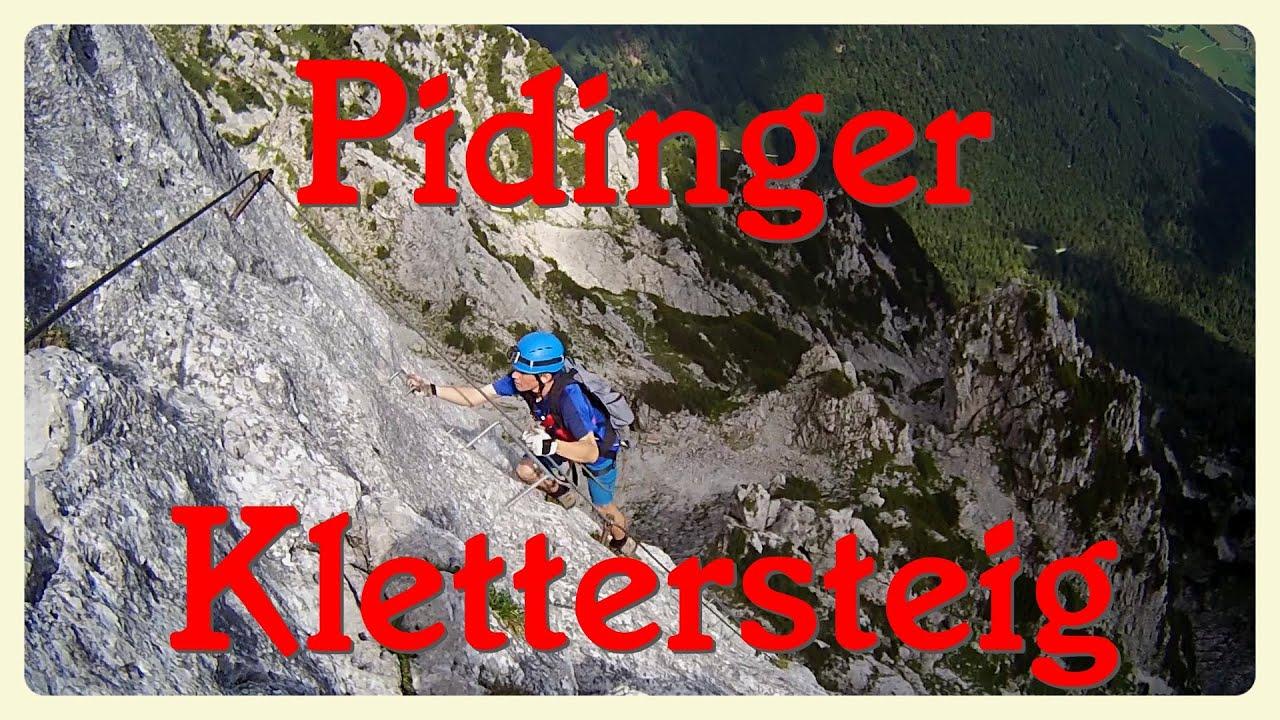 Klettersteig Johann Topo : Pidinger klettersteig youtube