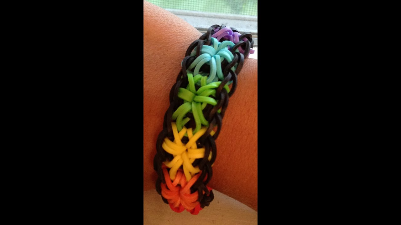 How To Make A Rainbow Loom Starburst Bracelet Youtube