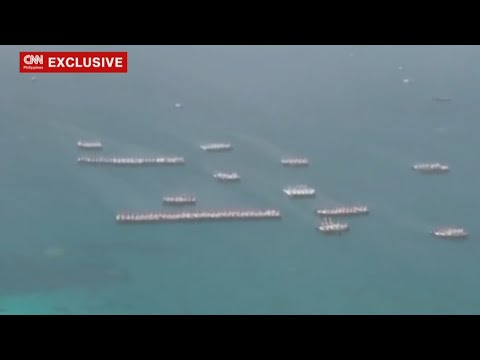 Video shows over a hundred Chinese ships around Julian Felipe Reef