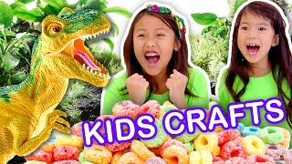 Make a Dinosaur Land with Cereal! | KIDS CRAFTS | Universal Kids