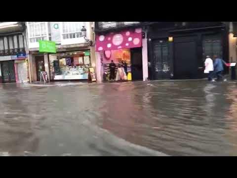 Inundacións na Coruña