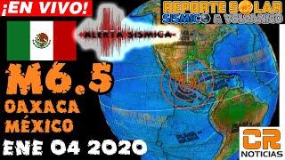 TERREMOTO M6.5 OAXACA MÉXICO EN REGIÓN ANUNCIADA - REPORTE SOLAR SÍSMICO Y VOLCÁNICO - ENERO 04 2020