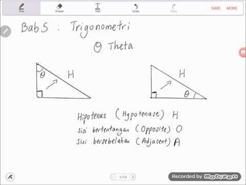 Bab 5 Part I Matematik Tingkatan 3 2019 Pengenalan Trigonometri Youtube