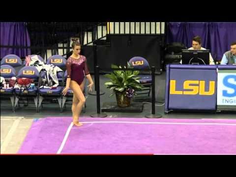 Natalie Brown Oklahoma 2016 Floor vs LSU Exhibition