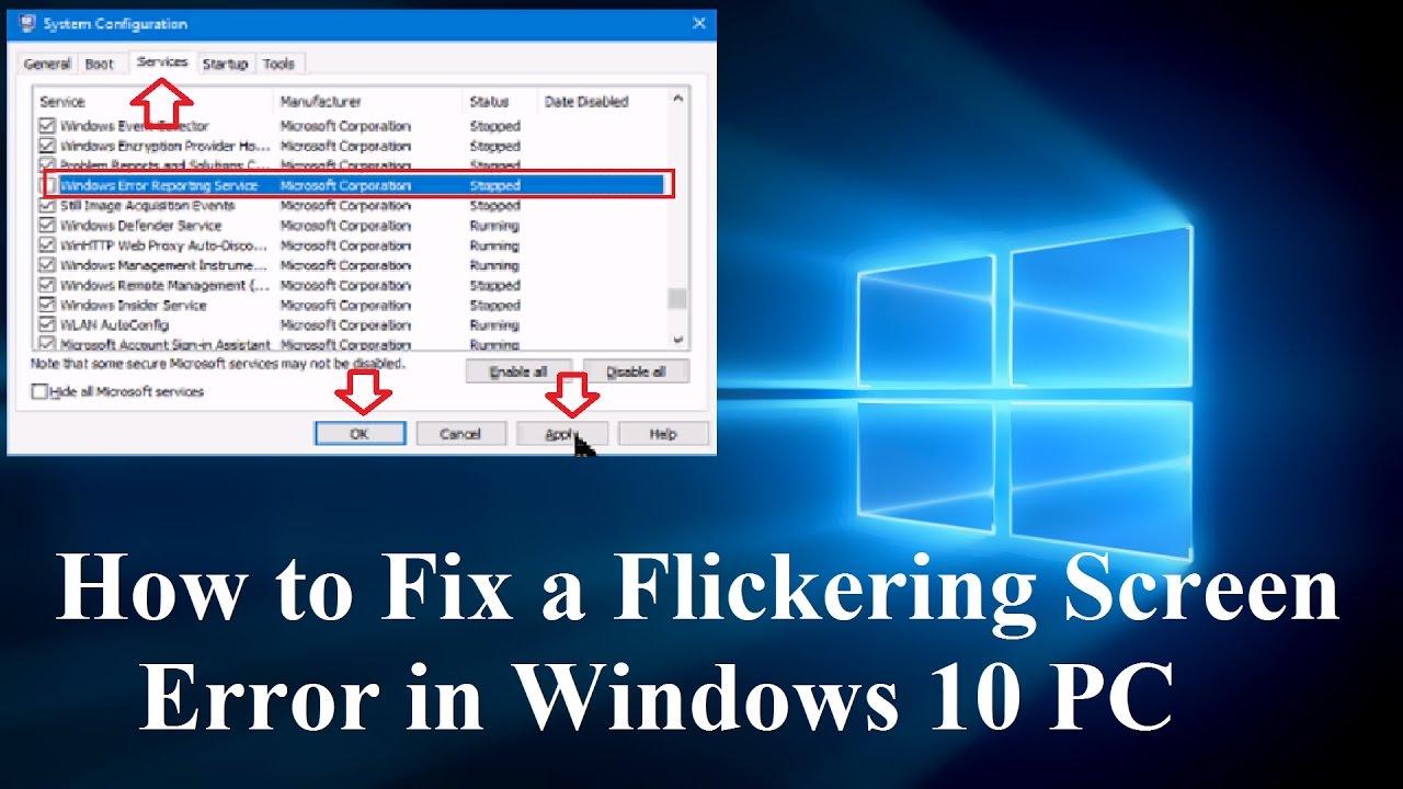 How to Fix a Flickering Screen Error in Windows 10 PC