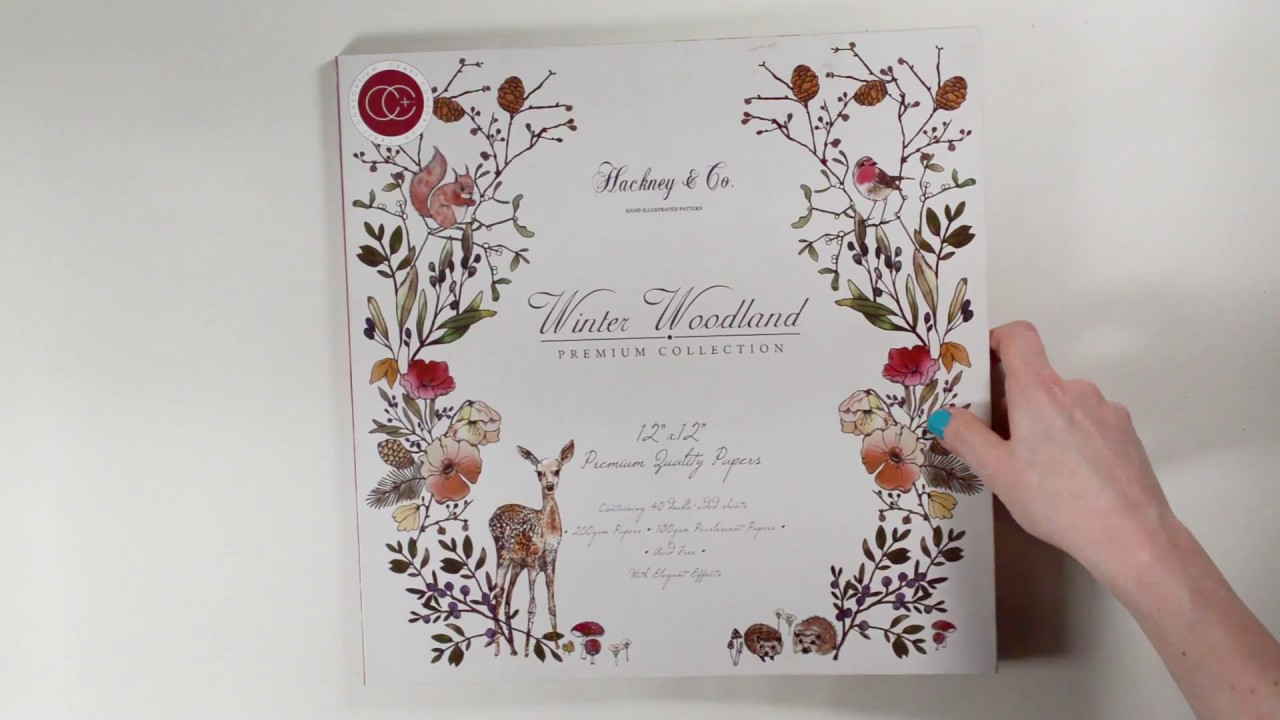 "NEW Crafting Consortium 12/"" x 12/"" Paper Pad Winter Woodland"