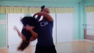 DWTS Lindsay farts in David's face