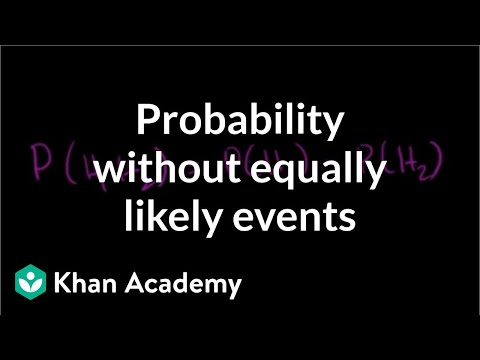 Probability without equally likely events | Probability and Statistics | Khan Academy