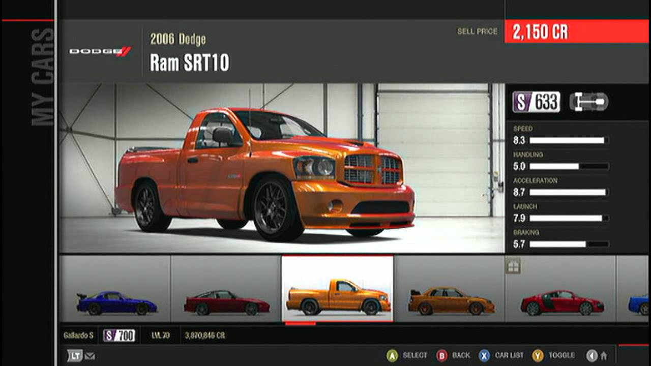 My Forza Motorsport 4 Garage Tour With Unicorn Cars Youtube