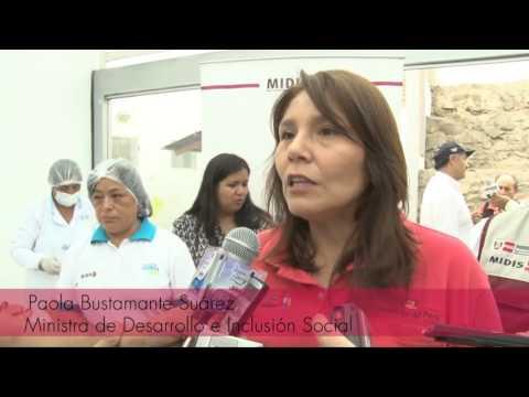 Ministra Bustamante en el distrito de Carabayllo