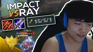 C9 Impact Meets C9 Ray In Solo Queue - League Of Legends Funny Moments & Highlights