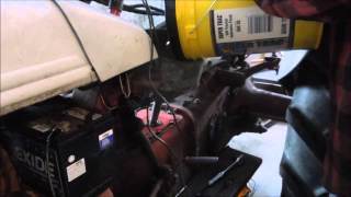 8N Fall Tune Up Part 1 Changing the oil - a video tutorial from Old Sneelock