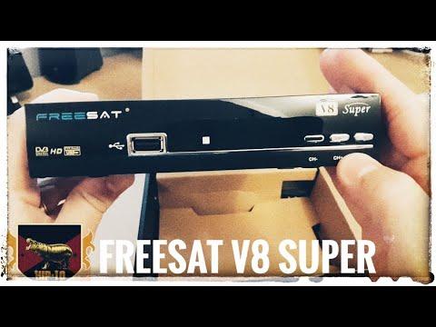 Freesat V8 Super 1080P Full HD DVB-S2 - Unboxing & Demo
