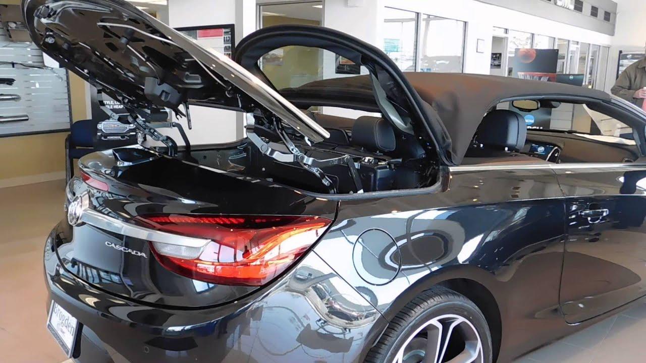 2016 Buick Cascada Convertible Soft Top Fold Down At