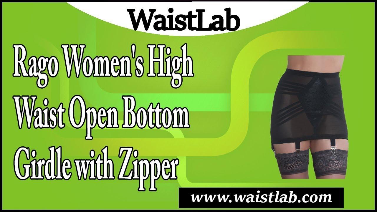 9fde5f02b555a Rago Women s High Waist Open Bottom Girdle with Zipper Review - YouTube