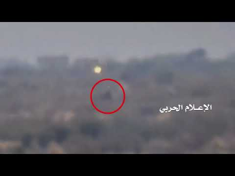 Bombing three military vehicles for  Hadi fighters with guided missiles in Alhamli area of Taiz prov