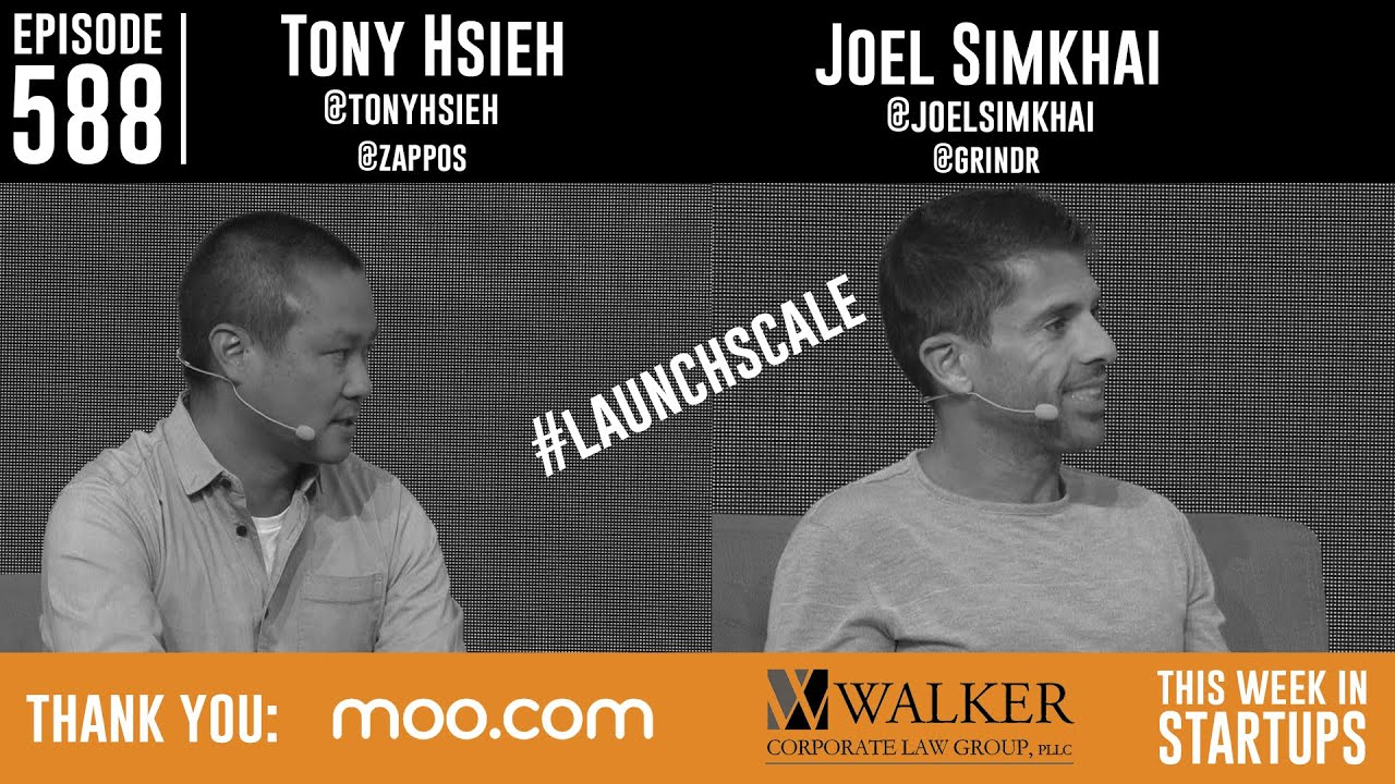 Tony Hsieh of Zappos and Joel Simkhai of Grindr at LAUNCH Scale