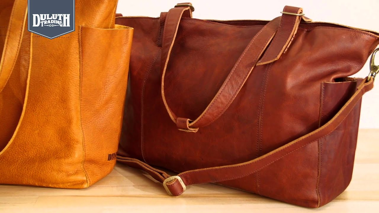 a28ee14c145 Duluth Trading Lifetime Leather Bags - YouTube