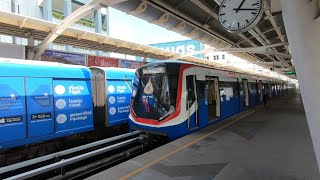 BTS Skytrain Silom Line Full Journey from Bang Wa to National Stadium on a Siemens EMU-A2