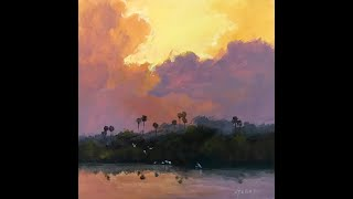 Landscape Painting in Acrylics!!! Learn Optical Blending!