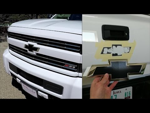 How To Remove Install Black Bow Ties 2017 2500hd Silverado
