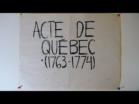 1774 - Acte de Québec