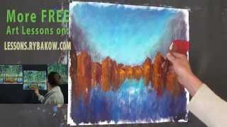 How to Oil Paint Village on water - FREE Oil Painting lesson.