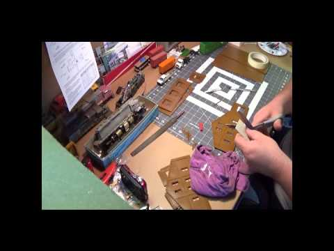 Walthers HO scale warehouse build part 2