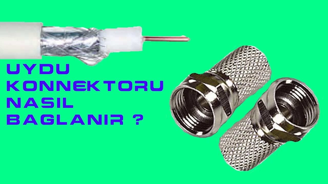 Anten kablosu nasıl bağlanır f Konnektör bağlantısı