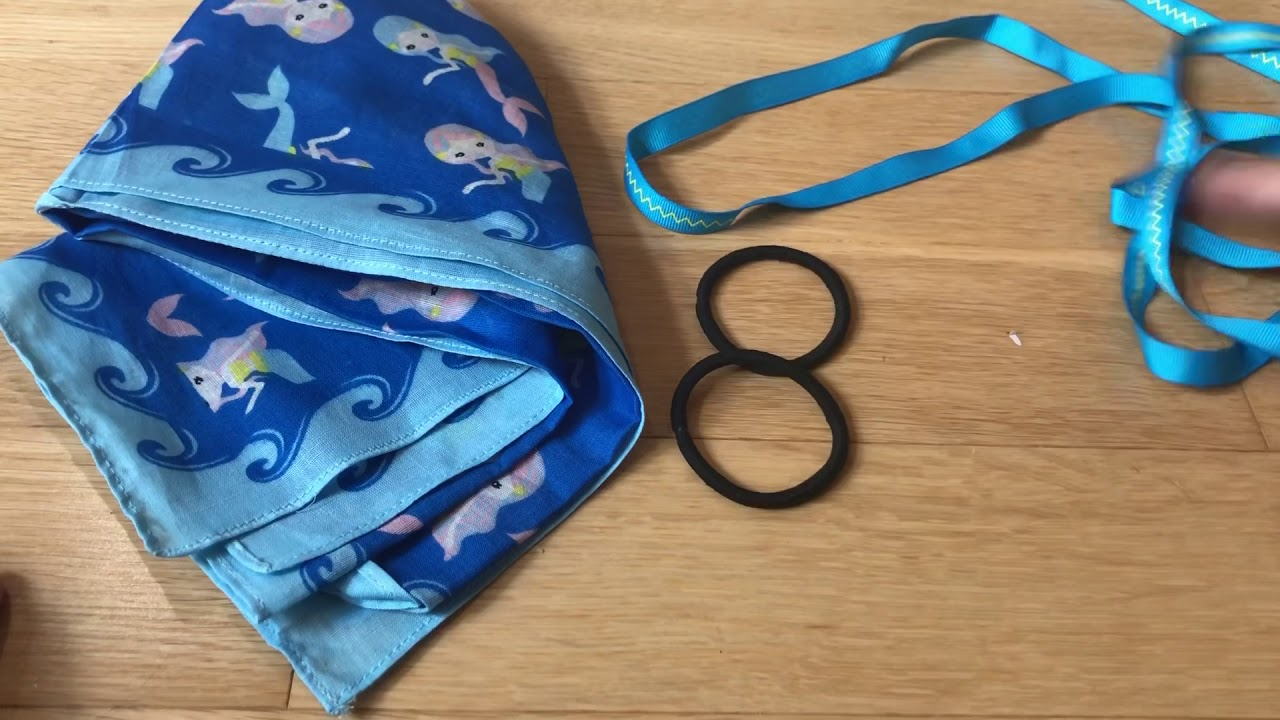 Comfy No Sew Bandana Face Mask with Straps