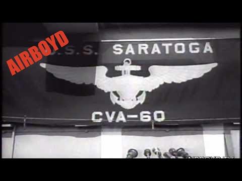 USS Saratoga (CVA-60) Commissioned (1956)
