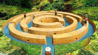 How To Build Tнe Most Secret Underground Maze Swimming Pool To The Underground House