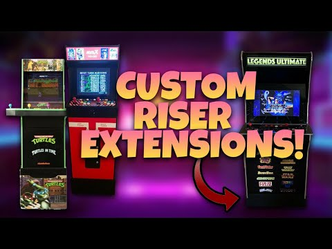 Arcade1Up, MVSX, & AtGames Legends Ultimate Arcade Riser Extensions! from COOLTOY