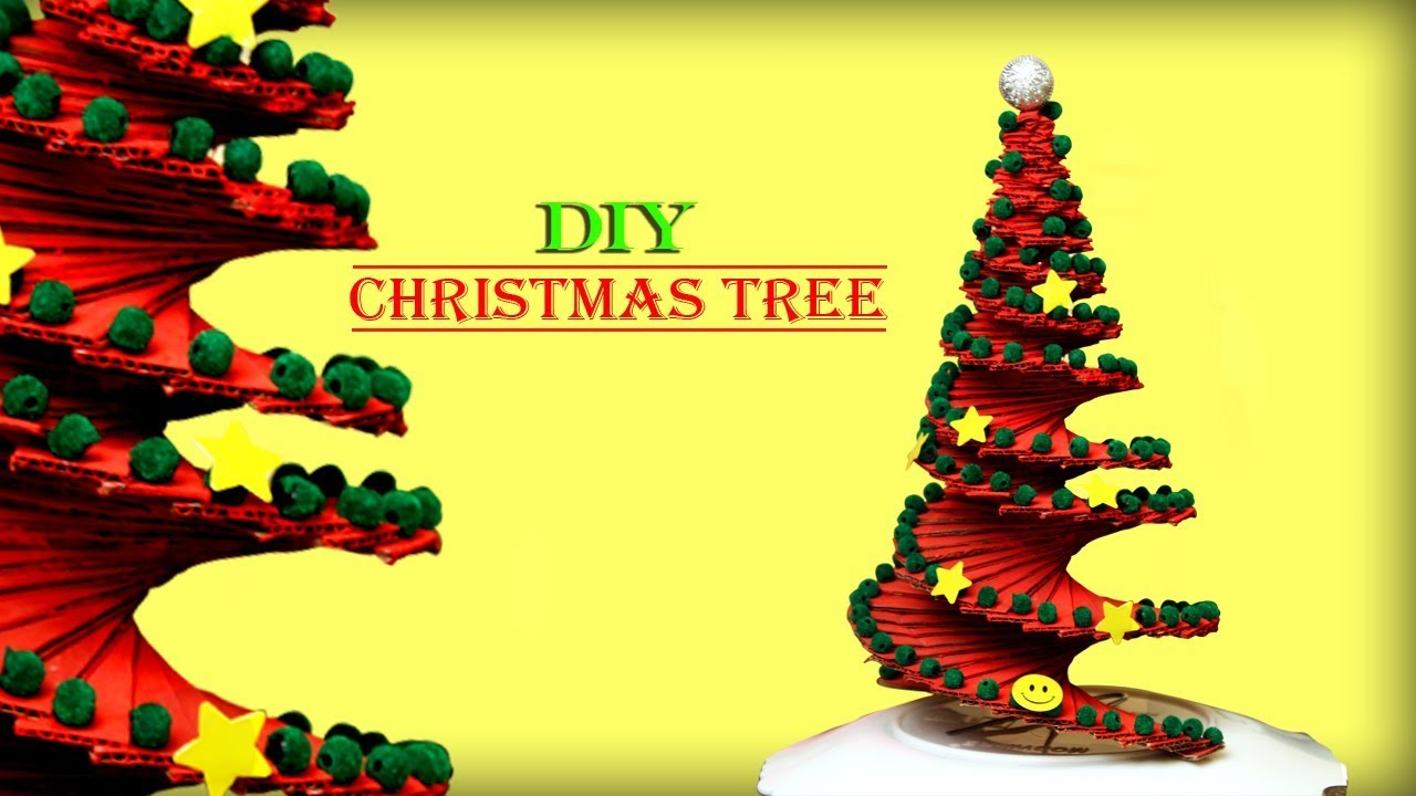 DIY Christmas Tree Making || Best Out Of Waste Idea || Christmas Tree Decoration  Idea