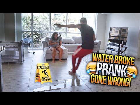 MY WATER BROKE PRANK GONE WRONG!!! 😳 HE LEFT ME AT THE HOUSE LMAO 😂👶🏽