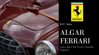 Classiche Certification with Algar Ferrari