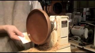 Turning An African Mahogany Platter