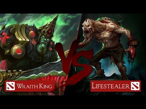 видео: wraith king vs lifestealer [Битва героев mid only] dota 2