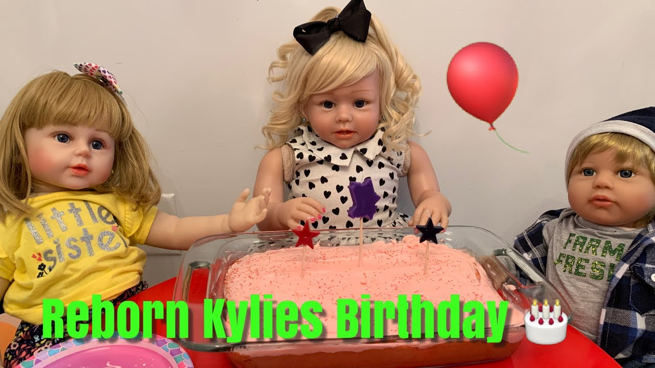 Reborn Toddler Kylie's 3rd Birthday Party Kylie is 3