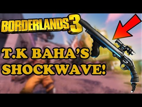 Borderlands 3 T.K BAHA'S SHOCKWAVE! LEGENDARY WEAPON GUIDE XBOX ONE X GAMEPLAY