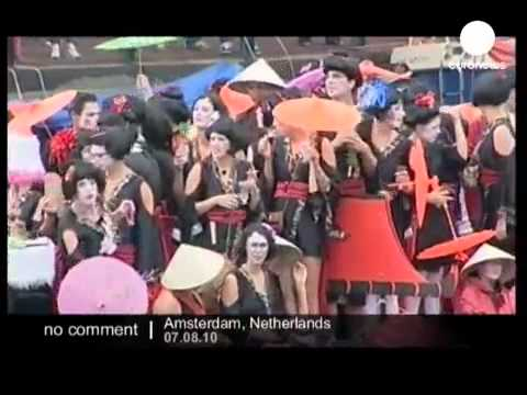 Euronews - No Comment  Amsterdam's Gay Pride boat parade.mp4