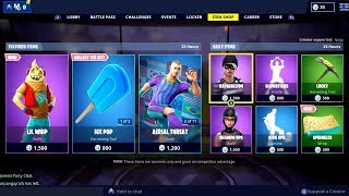 Fortnite ITEM SHOP 17 February 2019 ( New Lil Whip Skin + Ice Pop Pickaxe Available)
