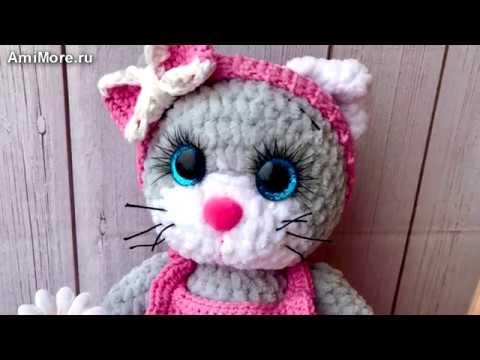 Амигуруми: схема Кошечка Модница. Игрушки вязаные крючком - Free Crochet Patterns.