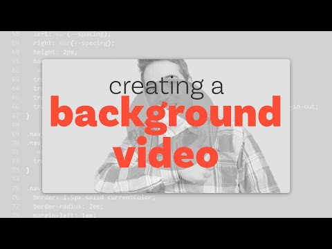 How To Create A Background Video | HTML & CSS Tutorial