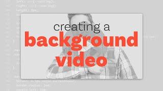 Arka plan video | HTML & CSS bir öğretici oluşturmak için nasıl