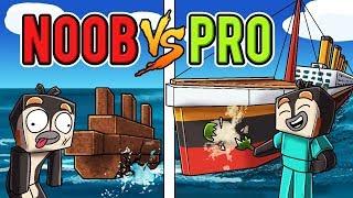 Minecraft NOOB vs PRO - Titanic Build Battle!